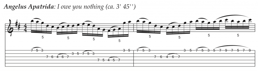 Técnicas de guitarra - Angelus Apatrida - I owe you nothing