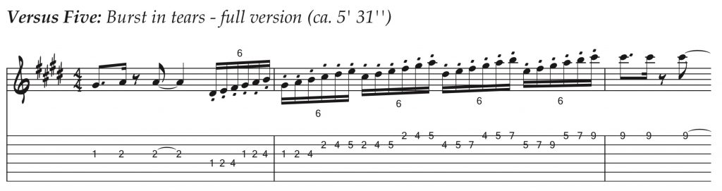 Técnicas de guitarra - Versus Five - Burst in tears