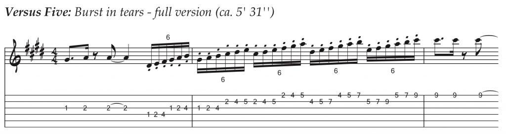 Técnicas de guitarra - Versus Five - Burst in tears