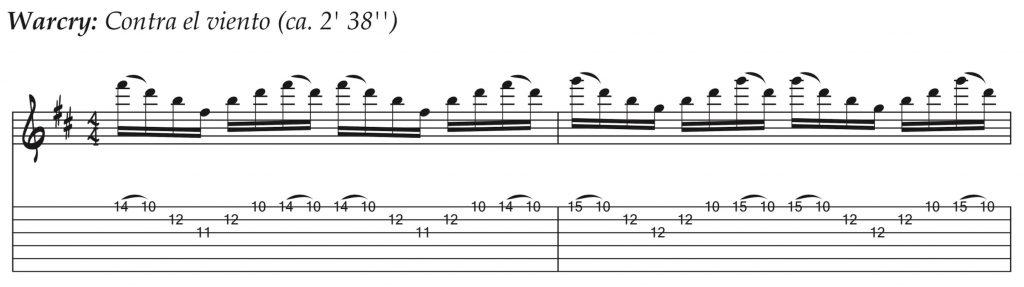 Técnicas de guitarra - Warcry - Contra el viento
